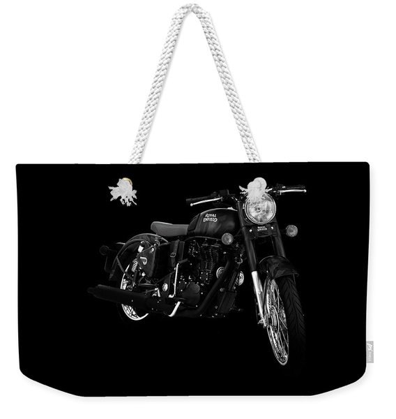 Royal Enfield Classic 500 Squadron Blue Weekender Tote Bag