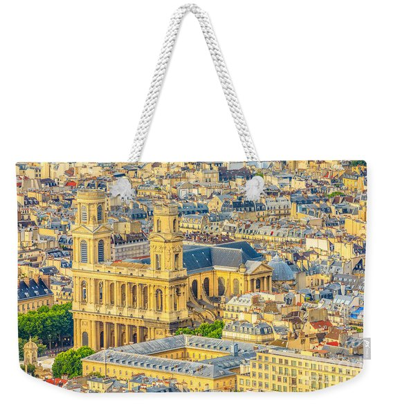 Weekender Tote Bag featuring the photograph Saint Sulpice Church Paris by Benny Marty