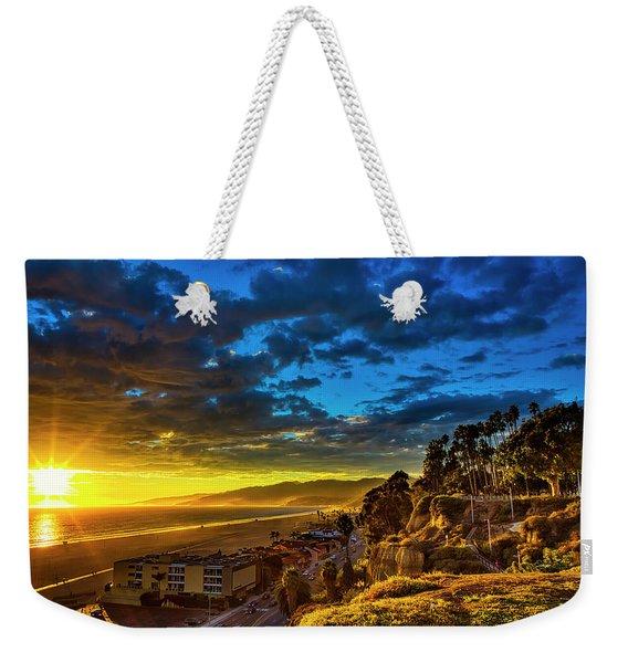Santa Monica Bay Sunset - 10.1.18 # 1 Weekender Tote Bag