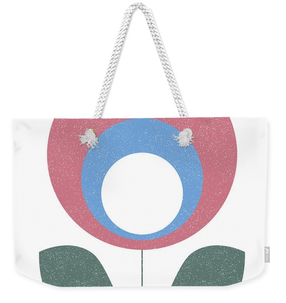Scandinavian Violet Flower Weekender Tote Bag