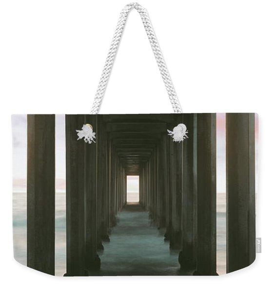 Scripps Pier Into The Pacific Ocean, La Weekender Tote Bag
