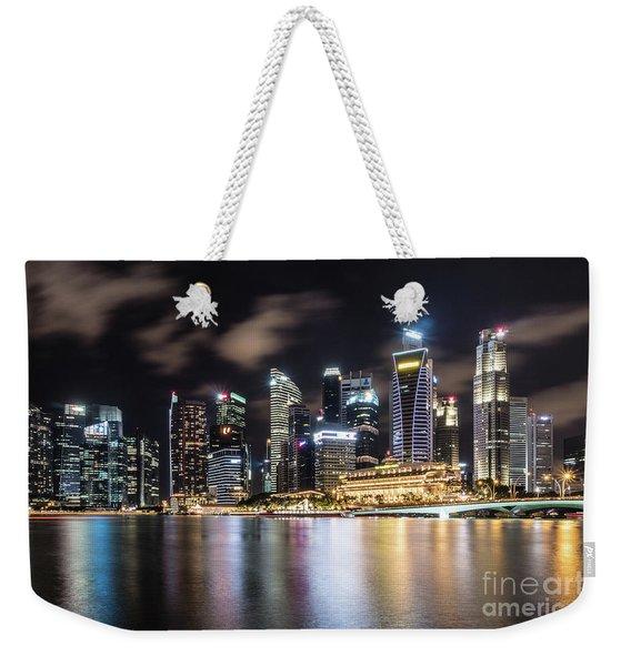 Singapore By Night Weekender Tote Bag