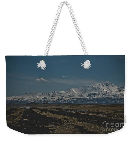 Snow-covered Mountains In The Turkish Region Of Capaddocia. Weekender Tote Bag
