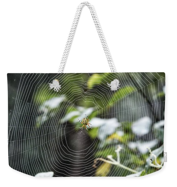 Spider At Work Weekender Tote Bag