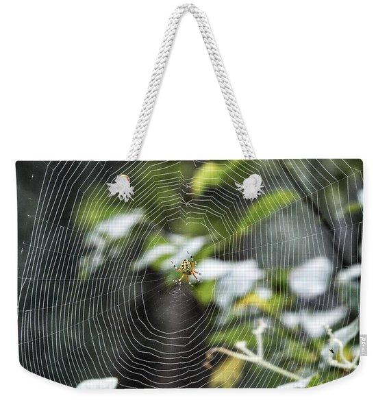 Spider At Work Weekender Tote Bag