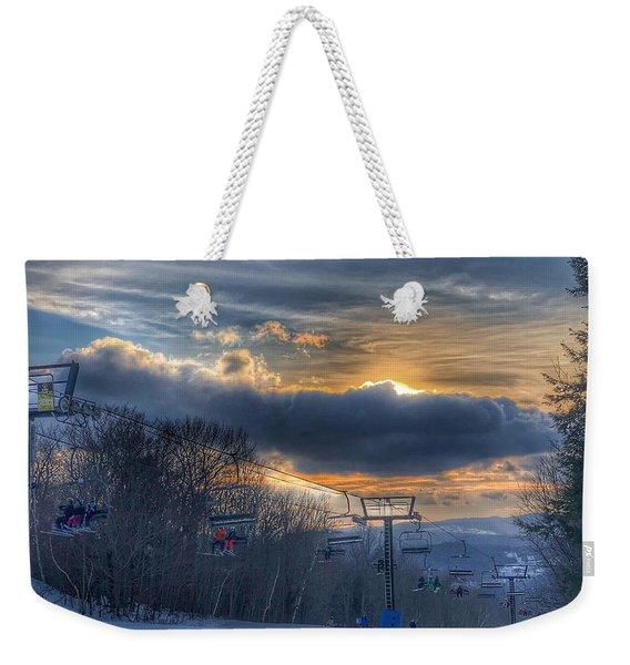 Sunrise At Okemo Mountain Weekender Tote Bag