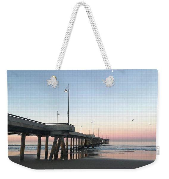 Sunrise At Venice Beach Pier Weekender Tote Bag