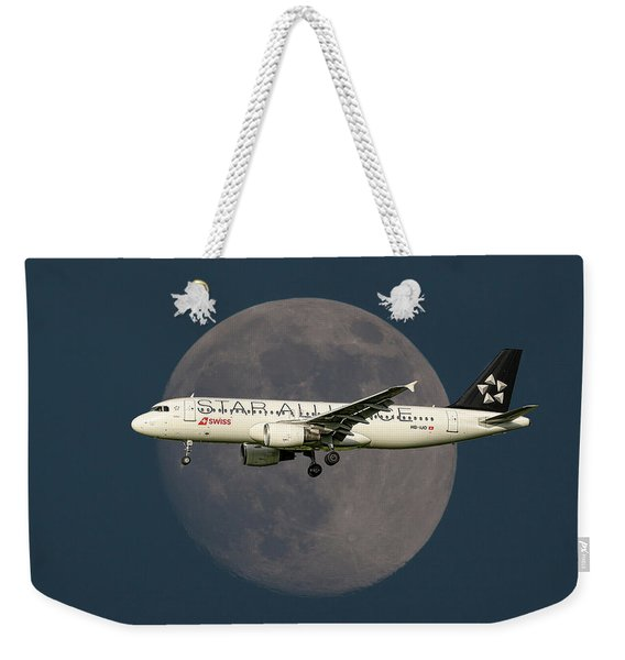 Swiss Star Alliance Livery Airbus A320-214 Weekender Tote Bag