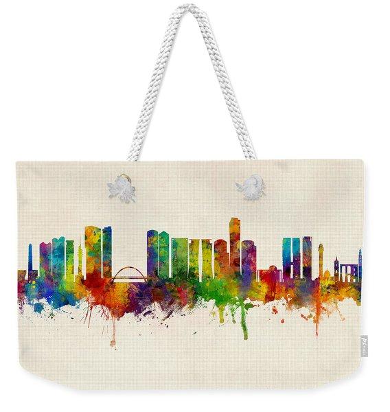 Tel Aviv Israel Skyline Weekender Tote Bag