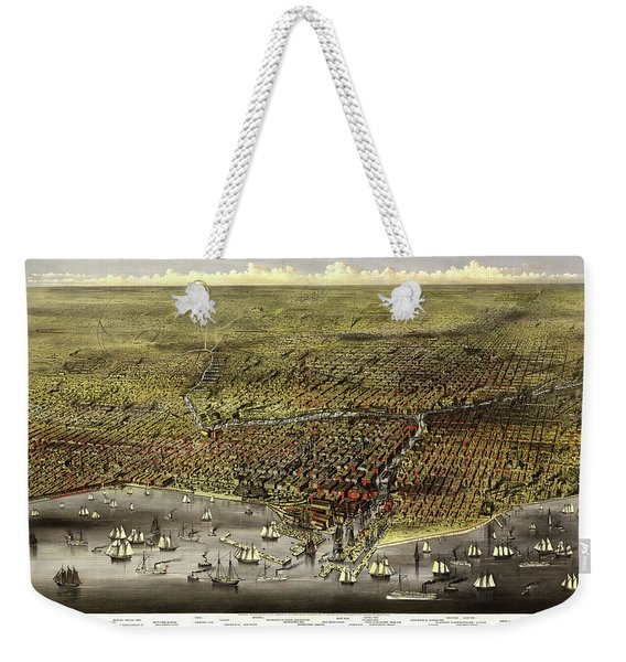 The City Of Chicago, 1868 Weekender Tote Bag