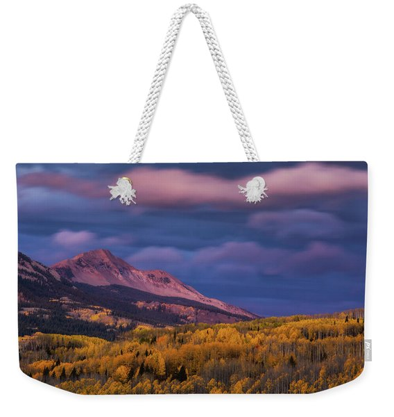 Weekender Tote Bag featuring the photograph The Whisper Of Clouds by John De Bord
