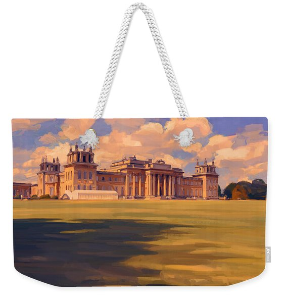 The White Party Tent Along Blenheim Palace Weekender Tote Bag