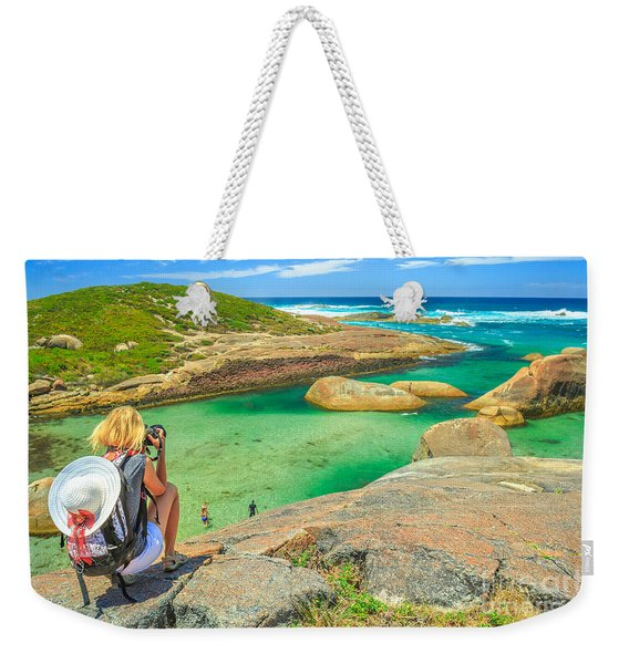 Weekender Tote Bag featuring the photograph Travel Photographer In Australia by Benny Marty