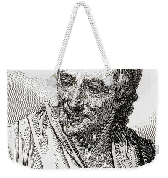 Voltaire, French Enlightenment Writer, Historian And Philosopher Weekender Tote Bag
