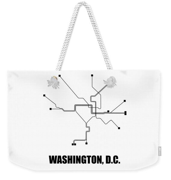 Washington, D.c. White Subway Map Weekender Tote Bag
