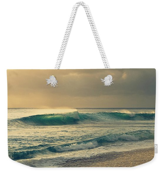 Weekender Tote Bag featuring the photograph Waves Of Light - Hipster Photo Square by Charmian Vistaunet