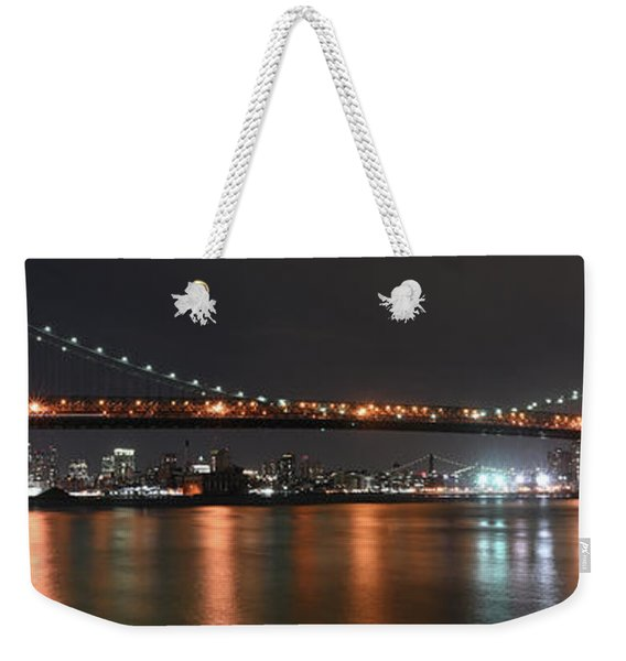 Williamsburg Bridge Weekender Tote Bag