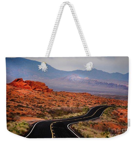 Winding Road In Valley Of Fire Weekender Tote Bag