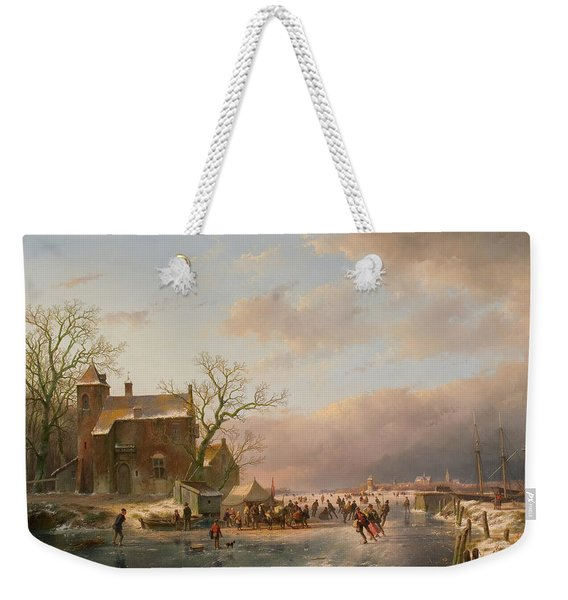 Winter Landscape Weekender Tote Bag