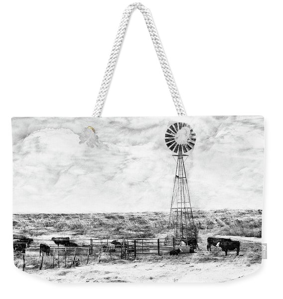 Weekender Tote Bag featuring the digital art Winter Storm II by Don Northup