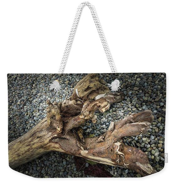 Weekender Tote Bag featuring the photograph Wood Log In Nature No.39 by Juan Contreras