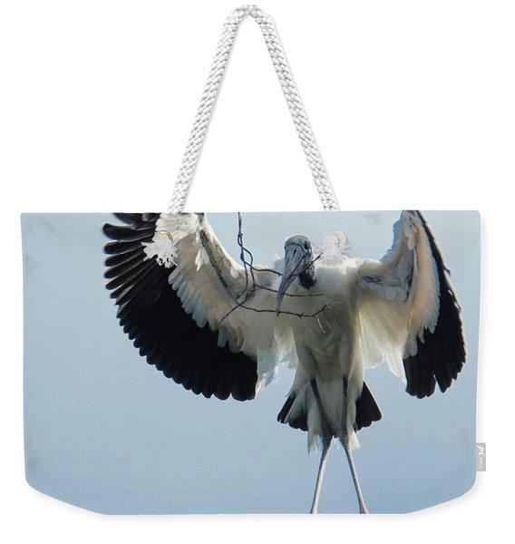 Woodstork Nesting Weekender Tote Bag