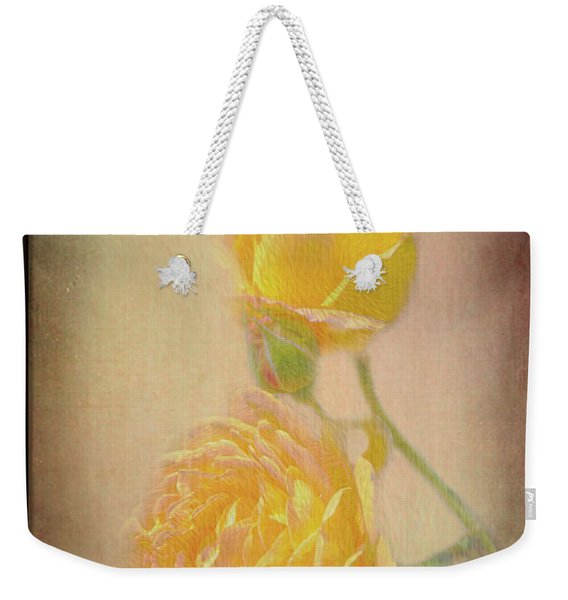 Weekender Tote Bag featuring the photograph Yellow Roses by Susan Leonard