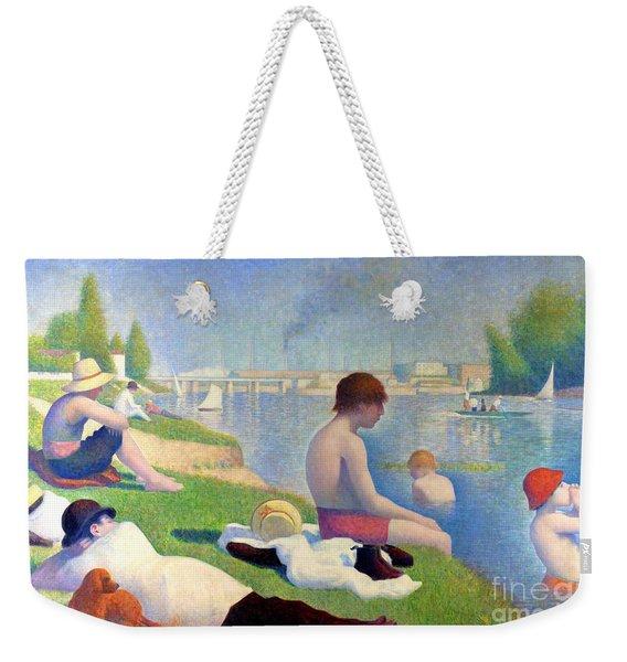 Bathers At Asnieres Weekender Tote Bag