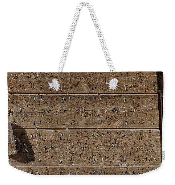 100 Years Of Brands - Meeteetse, Wyoming Weekender Tote Bag