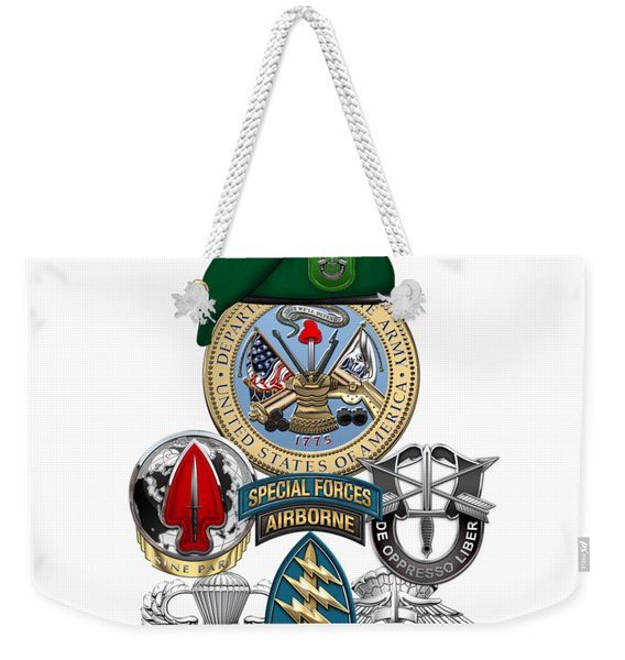 10th Special Forces Group - Green Berets Special Edition Weekender Tote Bag