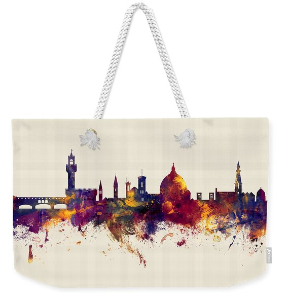 Florence Italy Skyline Weekender Tote Bag