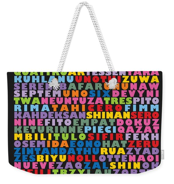 116 Digits Of Pi In 64 Languages Weekender Tote Bag