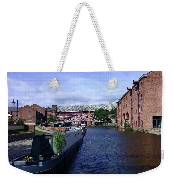 13/09/18  Manchester. Castlefields. The Bridgewater Canal. Weekender Tote Bag