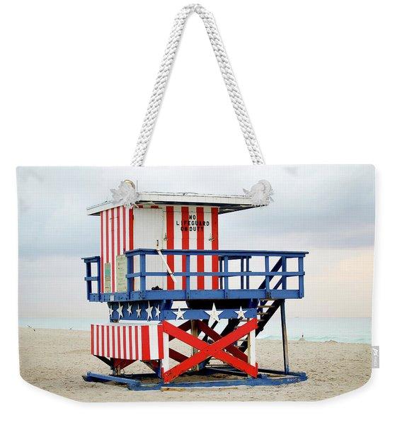 13th Street Lifeguard Tower - Miami Beach Weekender Tote Bag