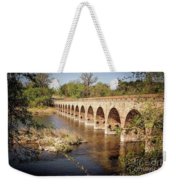 17 Arch Limestone Bridge Weekender Tote Bag