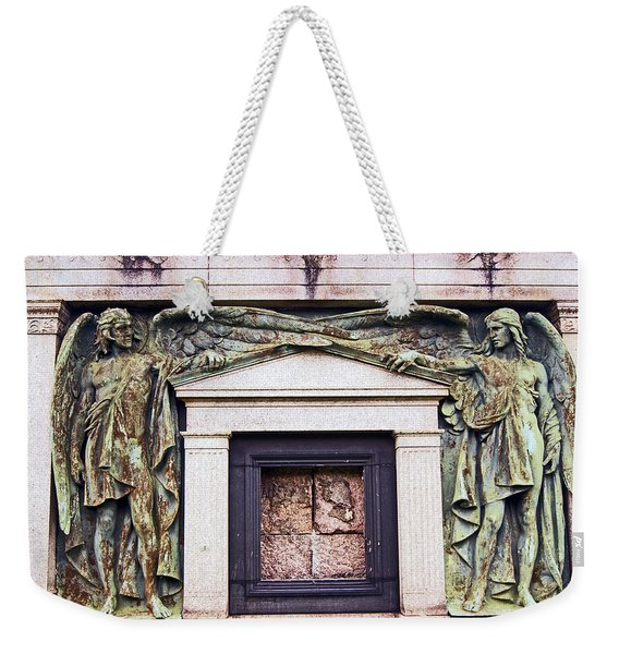 18/09/13 Glasgow. The Necropolis, Double Angels. Weekender Tote Bag