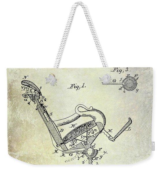 1855 Dentist Chair Patent Weekender Tote Bag