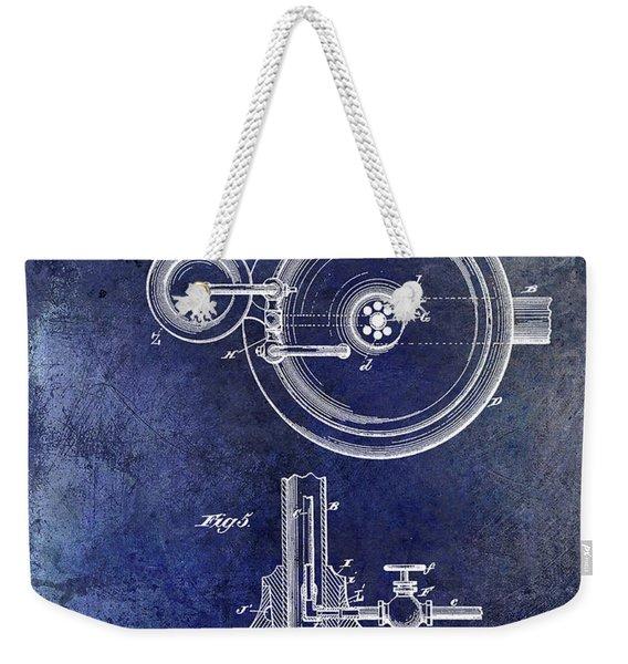 1883 Dental Spittoon Patent Blue Weekender Tote Bag