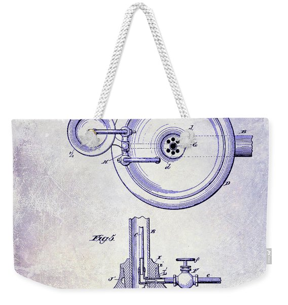 1883 Dental Spittoon Patent Blueprint Weekender Tote Bag