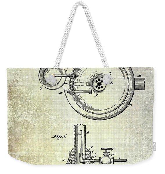 1883 Dental Spittoon Patent  Weekender Tote Bag