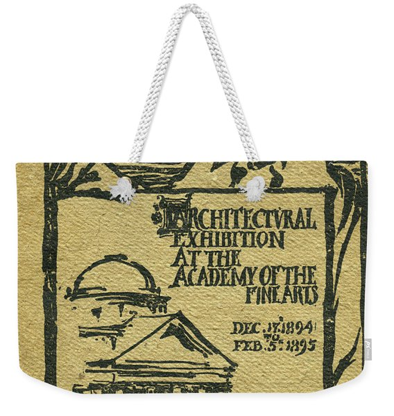 1894-95 Catalogue Of The Architectural Exhibition At The Pennsylvania Academy Of The Fine Arts Weekender Tote Bag
