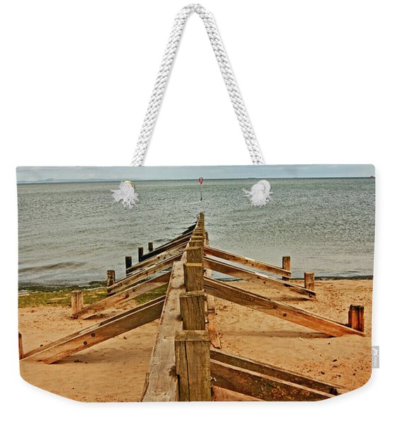 19/08/13 Edinburgh, Poetobello. The Shore And Groynes. Weekender Tote Bag