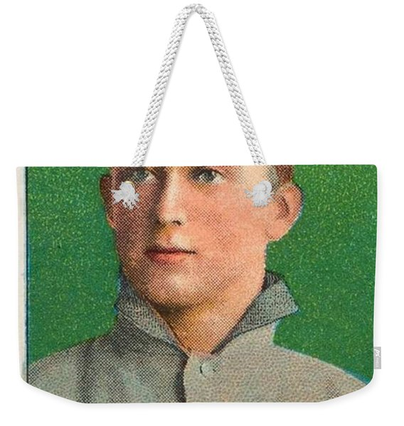 1909 11 T206 Sweet Caporal Ty Cobb Green Portrait  Weekender Tote Bag