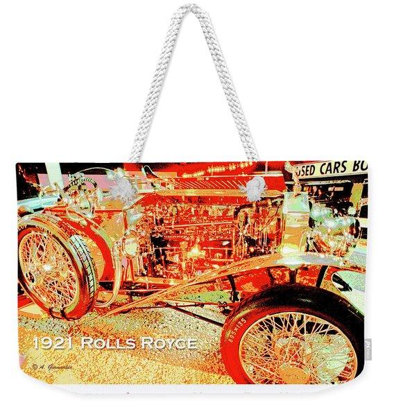 1921 Rolls Royce Classic Automobile Weekender Tote Bag