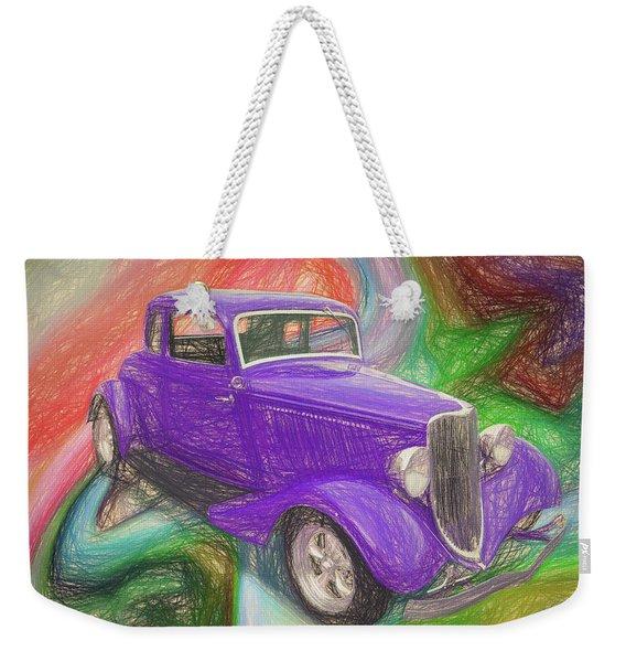 1934 Ford Colored Pencil Weekender Tote Bag