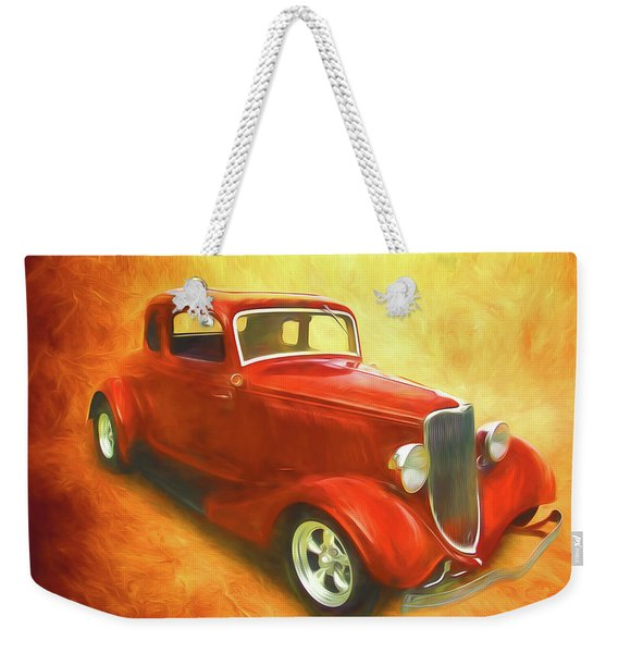 1934 Ford On Fire Weekender Tote Bag