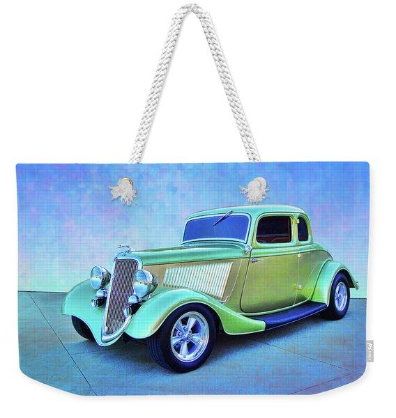 1934 Green Ford Weekender Tote Bag