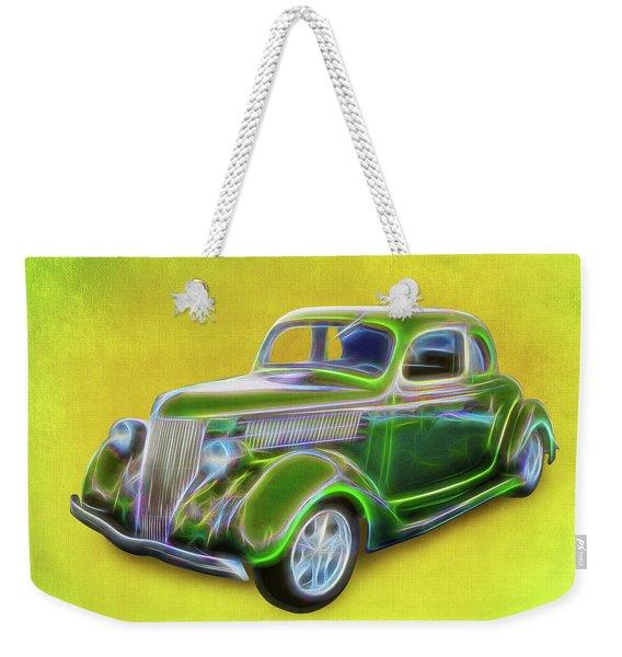 1936 Green Ford Weekender Tote Bag