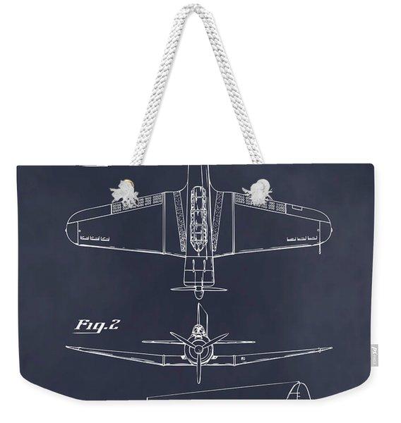 1940 Douglas Sbd Dauntless Patent Print Blackboard Weekender Tote Bag