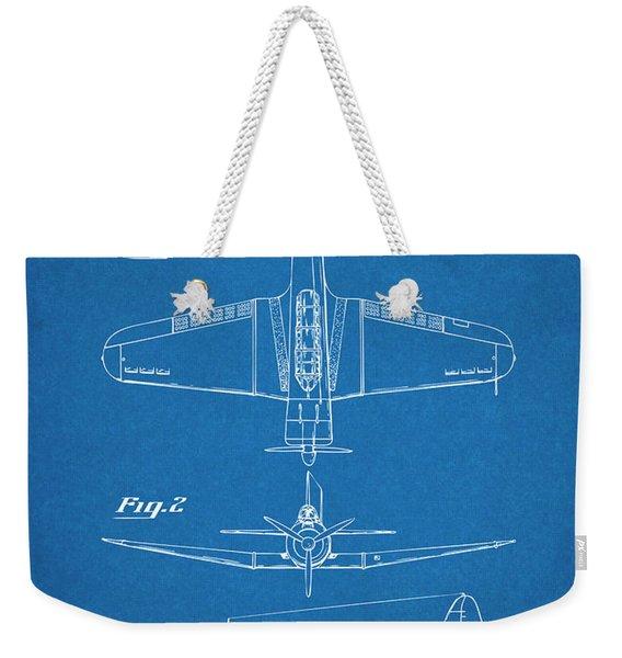 1940 Douglas Sbd Dauntless Patent Print Blueprint Weekender Tote Bag